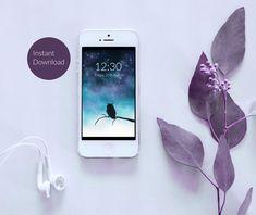 Owl Silhouette Phone Wallpaper - Instant Digital Download von TerraSomniaArt auf Etsy Owl Silhouette, Fantasy Kunst, Photo Wallpaper, Photo Library, Digital Image, Etsy, Phone, Instagram, Night Skies