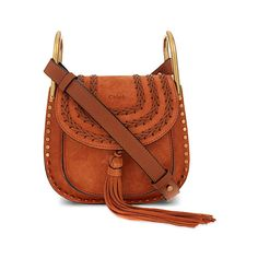 CHLOÉ Hudson Small Suede Cross-Body Bag ❤ liked on Polyvore featuring bags f1b2db895ee01