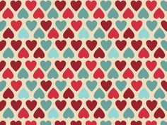 """all heart"" by Smiles aqua, blue, hearts, ivory, off white, pink, red, valentine, valentines day"