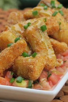 Masitas de Pescado Crujientes en Salsa de Coco y Curry by Cielito Rosado www.cielitorosado.com