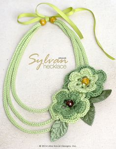Walk in woods any time of the year with the Sylvan Necklace, suitable for wearers of all ages!