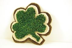 Shamrock Punch Needle Brooch $24