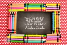 Give your child's new teacher this easy and inexpensive picture frame craft using crayons, a frame, and a motivational educational quote.