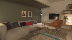Bolig Korsvoll - Superoppusserne - TV3 - Stue Couch, Living Room, Interior, Furniture, Home Decor, Settee, Decoration Home, Sofa, Indoor