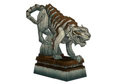 World of Warcraft - Statue of Xuen (White Tiger Sculpture) Free Papercraft Download - http://www.papercraftsquare.com/world-of-warcraft-statue-of-xuen-white-tiger-sculpture-free-papercraft-download.html#Sculpture, #Statue, #StatueOfXuen, #Tiger, #WorldOfWarcraft