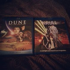 My last purchases for 2015: #Dune Starring #KyleMacLachlan #Sting & #PatrickStewart and #Krull Starring #KenMarshall #LysetteAnthony & #LiamNeeson #HappyNewYear  by cinemadrunkie