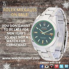 This is one of the many watches we have on sale for the holiday season. #watchmaster #passionforwatches #watch #watches #time #timepiece #luxury #luxurywatches #instagift #gift #christmas #rolex #milgauss