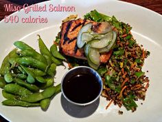 #ad Mmmm miso grilled salmon. And just 540 calories at Houlihan's on their lighter fare menu. I am #SoEatingThis