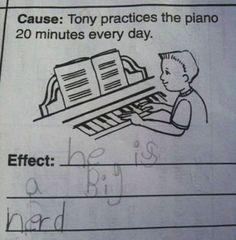 De har verkligen inte en aning om det rätta svaret. Men det som barnen hittar på gör dem till genier. | Newsner