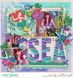 Cruise Scrapbook Pages, Beach Scrapbook Layouts, Vacation Scrapbook, Scrapbook Albums, Scrapbooking Layouts, Baby Girl Books, Scrapbook Background, Ocean Crafts, Disney Magic Kingdom