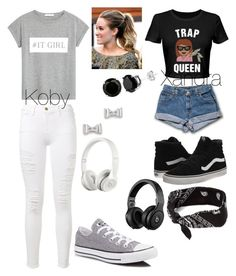 """""""Untitled #417"""" by oliviamarvel on Polyvore featuring MANGO, Frame Denim, Converse, Vans, claire's, Marc by Marc Jacobs and Beats by Dr. Dre"""