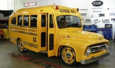 John Forces childhood scool bus restored by Chip Foose ('56)