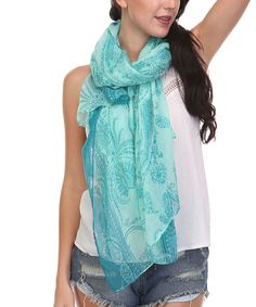Love this Urbanista Mint & Teal Paisley Scarf by Urbanista on #zulily! #zulilyfinds