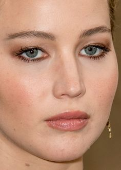 Jennifer Lawrence makeup at the event Dior during the Fashion Week in Paris, 2016.