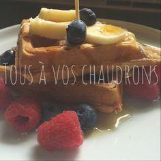 Tous à vos chaudrons: Gaufres Cannelle & Muscade C'est Bon, Pancakes, Muffin, Breakfast, Food, Cauldron, Recipes, Morning Coffee, Essen