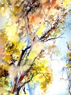 Light On A Tree Painting by Sophia Rodionov