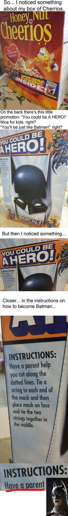 bahahahahaha batman fans get it