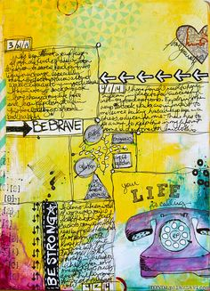 What do you do when life becomes a challenge? Seriously, getting out the journal, write a bit, draw or doodle then ad some color. Somehow, life becomes managable. Well, it works for me. Thanks - Ronda Palazzari!