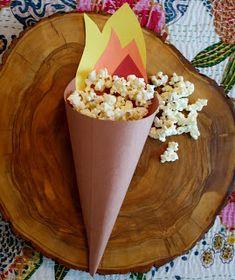 Acuarela: Decoración para las Olimpiadas 2012 - Como hacer el cono (Decoração para as Olimpíadas 2012 - Como fazer o cone)