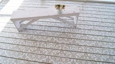 An easy way to make your deck space unique. #HometalkReady After looking at inspiration on Pinterest I decided to add a stencil to my wood de…