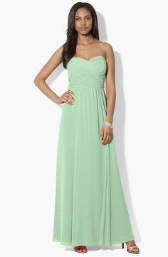 Lauren Ralph Lauren Pleated Georgette Gown available at #Nordstrom
