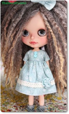 OOAK Custom Blythe doll Tanned Skin. by Thehandflower on Etsy