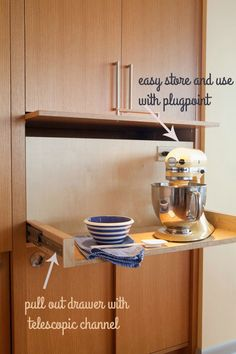 Small Kitchen Appliance Storage Hideaways