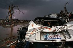 Photo of the tornado damage in Moore, Ok, 2013.