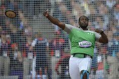 Saudi Arabia's Sultan Mubarak al-Dawoodi competes in the men's discus throw in London 2012 Olympic Games