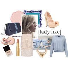 """""""lady like"""" by busta on Polyvore Featuring the Grey Bumblebee crossbody bag from BÙSTA #busta #bustabags #leatherbag #leather #streetstyle #blue #embroidery #folklore #handmade #crossbody #leathercrossbody #metalchain #pale #pink #rose #blue #baby"""