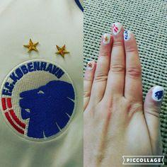 FC Copenhagen inspired nails