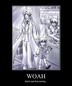 Modern day Sesshomaru and Rin wth plushie Jaken