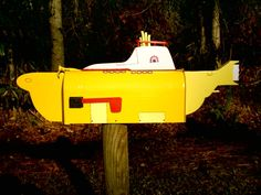 Weird mailboxes, Beatles little yellow submarine