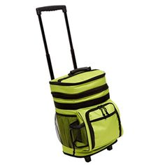Here we have a Rolling Cooler (Willow) Brylanehome. Transport up to 42 beverages and keep them all cool in this travel-friendly piece perfect for outd...