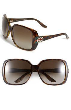 88c45200dbf Gucci 59mm Oversized Square Sunglasses