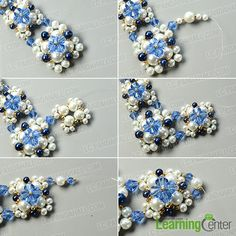 Detailed Tutorial on How to Make an Exquisite Pearl Bead Flower Pendant Necklace: Searching for pearl necklace designs? Today we'd like to share you a very exquisite pearl bead flower pendant necklace, I bet you'll like the design. Bead Jewellery, Beaded Jewelry, Handmade Jewelry, Diy Jewelry, Beading Tutorials, Beading Patterns, Pearl Necklace Designs, Heart Shaped Necklace, Necklace Tutorial