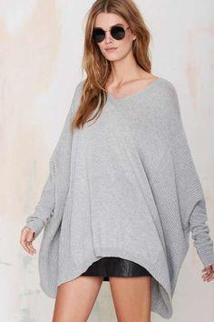 Just Female Carla Wool Poncho Sweater