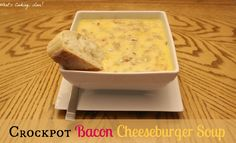 Crockpot Bacon Cheeseburger Soup - Whats Cooking Love?