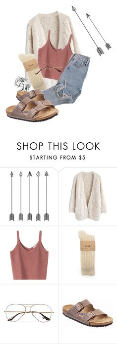 """""""i've been working all day"""" by jaxii ❤ liked on Polyvore featuring Chicwish, Ray-Ban, Birkenstock and ASOS"""