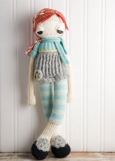 Betty is an  handcrafted, crochet girl doll.
