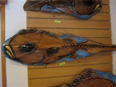 Tikis, wooden masks, wall hangings, custom orders, and more