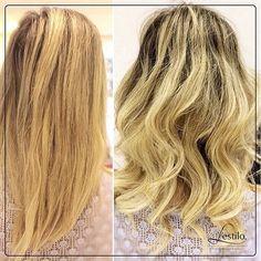 #AnteseDepois: alongamento, pela nossa profissional Andrea. Venha para o L'estilo cuidar de seus cabelos, ligue: 11 4371-7427. #Lestilo #ProfissionaisLestilo #Alongamento #InstaHair #Loiro #Cabeloslongos #Beleza #Morumbi #Panamby
