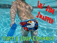 Lil' Side Snapper swim diaper Soup Company, Turtle Soup, Coordinating Colors, Snug Fit, Kid Stuff, Printing On Fabric, Bathing Suits, Boy Or Girl, Swimsuits