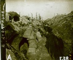 WW1, French trench in Champagne