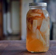 homemade pear liqueur