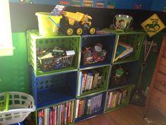 Ideas For Milk Crate Shelf Bookshelves