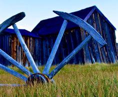 Broken wheel a blue
