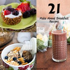 21 Make Ahead Breakfast Recipes