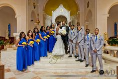 A Love Meant to Be! Isabella and Valere's Classy Blue and Yellow Wedding - Wedding Digest Naija Royal Blue Bridesmaid Dresses, Mermaid Bridesmaid Dresses, Blue Wedding Dresses, Wedding Colors, Wedding Blue, Wedding Attire, Blue Yellow Weddings, Gray Weddings, Blue Silver Weddings