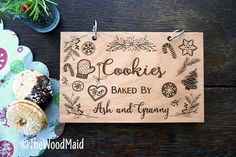 Cookies Recipe Book Personalized Christmas Cookies by TheWoodMaid